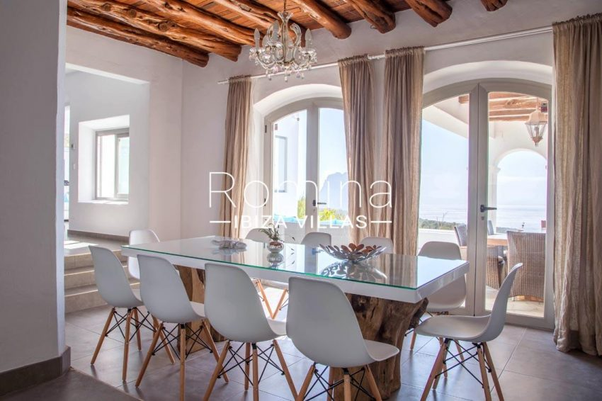 villa illes ibiza-3dining room sea view es vedra