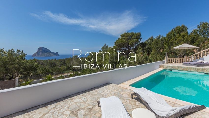 villa lyze ibiza-1pool terrace sea view vedra