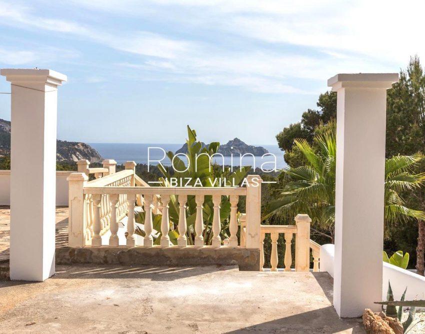 villa lyze ibiza-1terrace sea view vedra