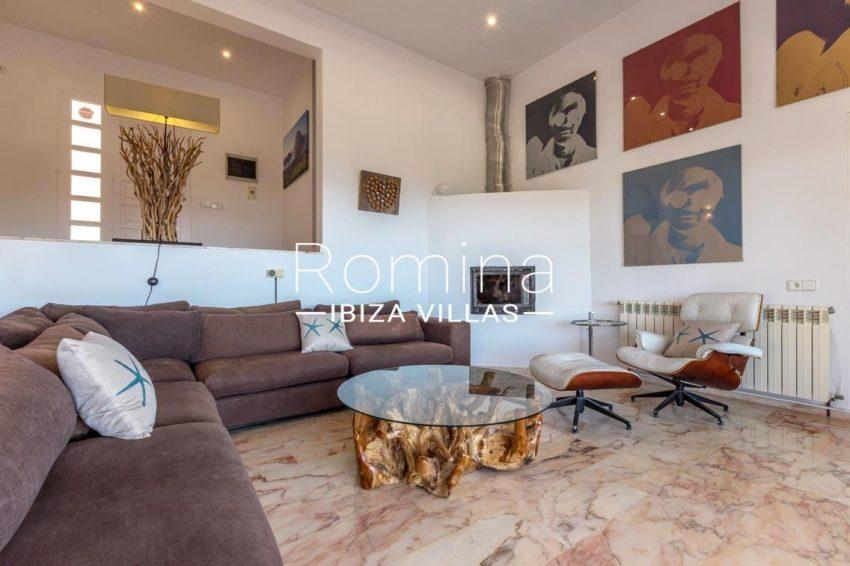 villa lyze ibiza-3living room fireplace