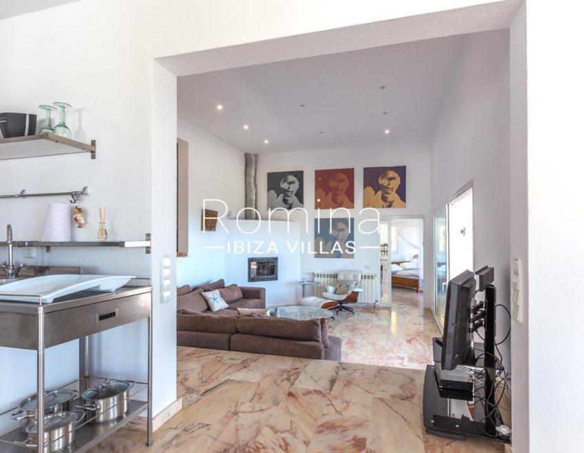 villa lyze ibiza-3zkitchen to living room