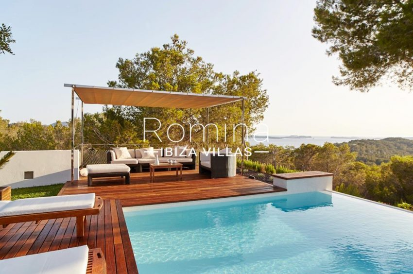 villa somchai ibiza-1pool chill out sea view