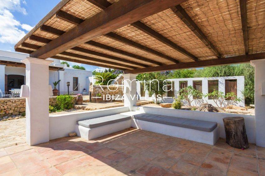 finca rafael ibiza-2pergola terrace banquettes