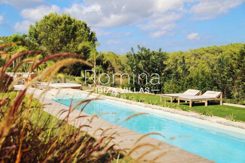 villa design ibiza-2pool garden