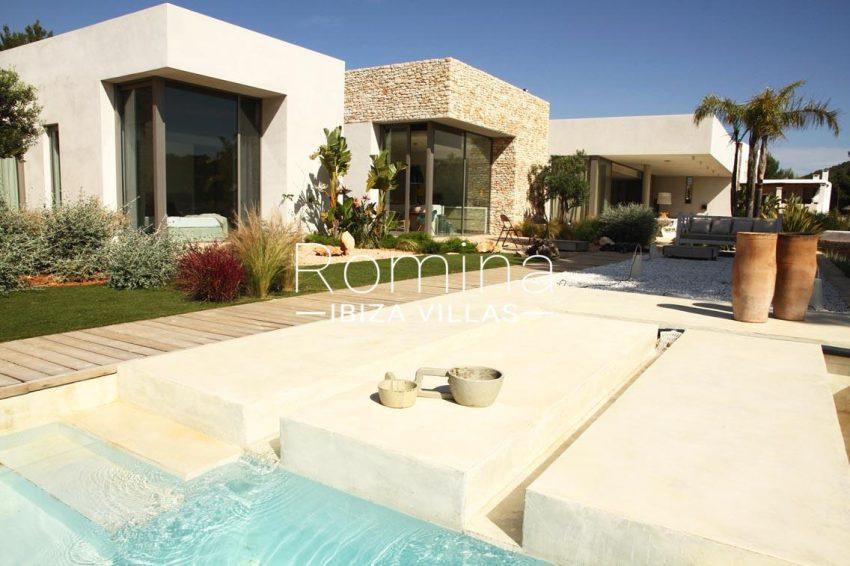 villa design ibiza-2pool terrace facade