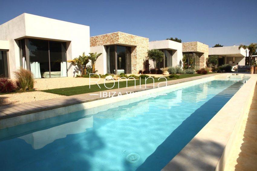 villa design ibiza-2pool terraces
