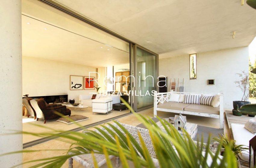 villa design ibiza-2terrace and living room