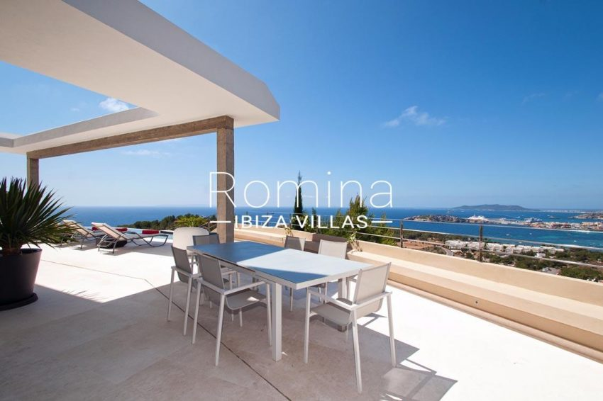 villa papirum ibiza-1terrace dining area sea view