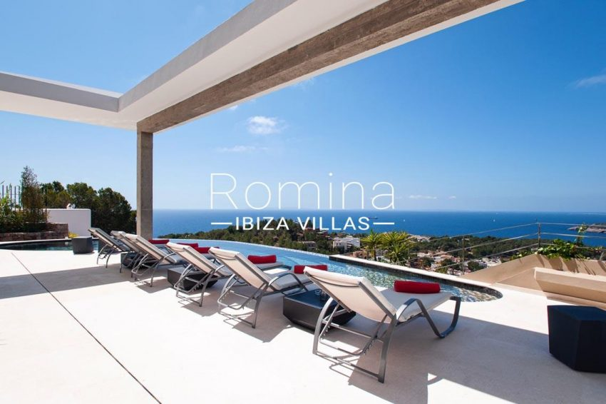 villa papirum ibiza-1terrace pool sea view3