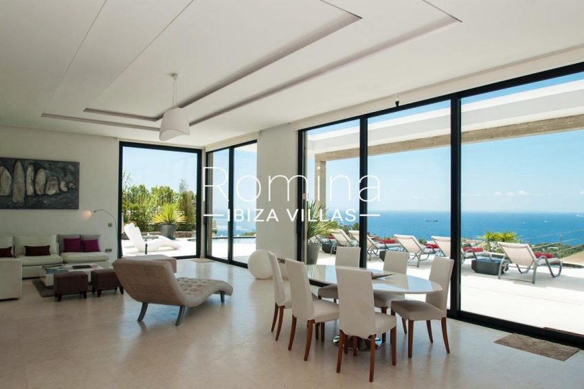 villa papirum ibiza-3living dining room sea view
