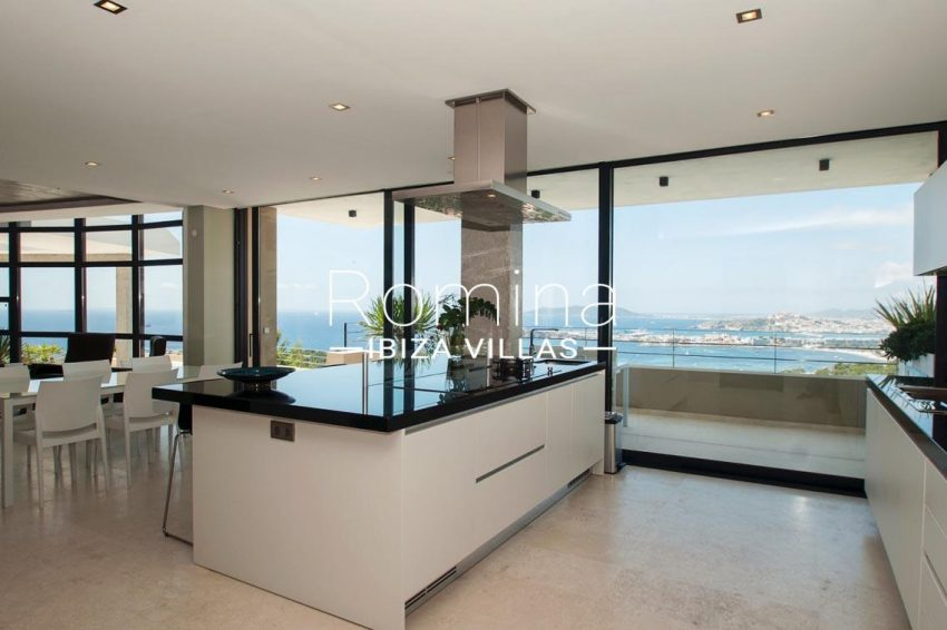 villa papirum ibiza-3zkitchen sea view2
