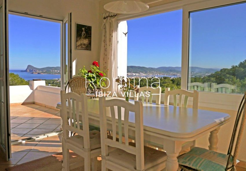 casa agata ibiza-1dining area sea view cap nono