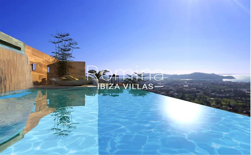 proyecto villa moderna ibiza-1pool sea view