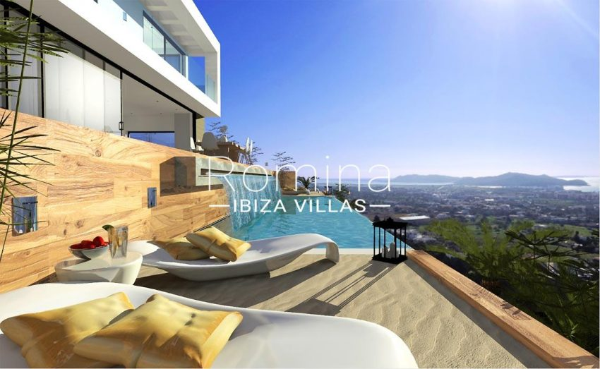 proyecto villa moderna ibiza-1pool terrace sea view