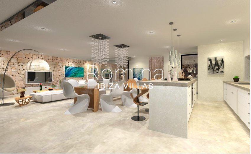 proyecto villa moderna ibiza-3zkitchen dining area