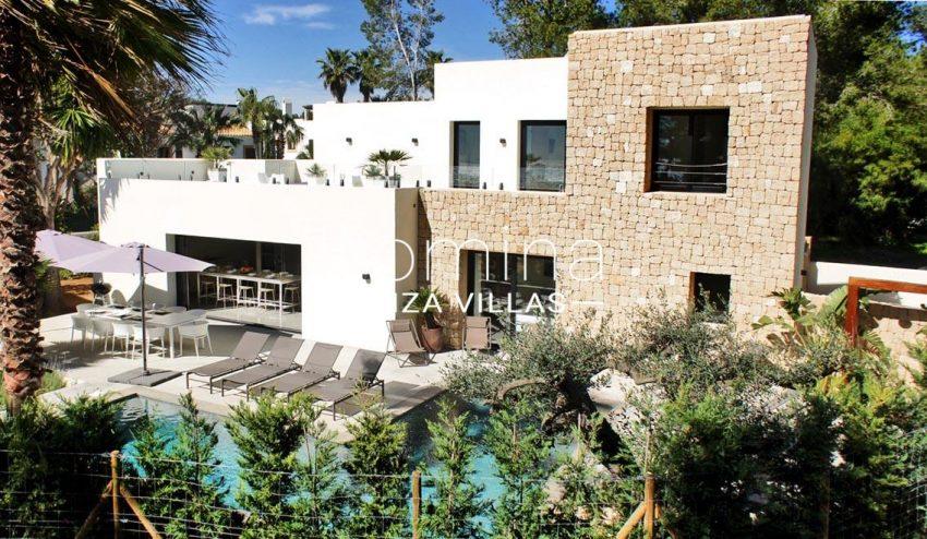villa ambar ibiza-2pool facade
