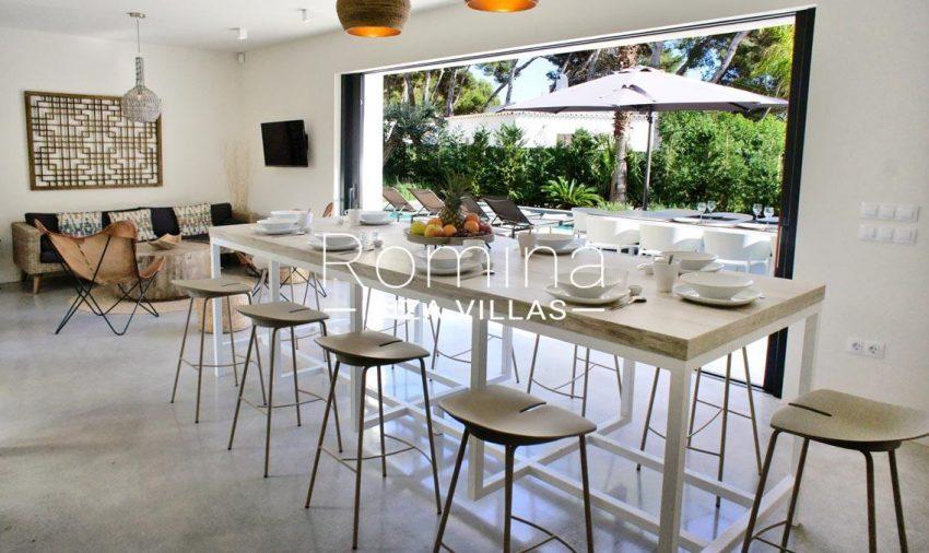 villa ambar ibiza-3dining area