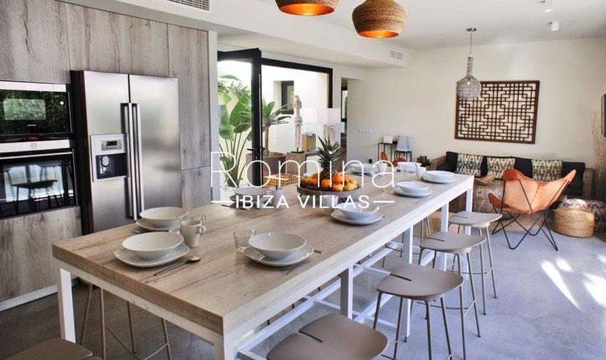 villa ambar ibiza-3sining living room