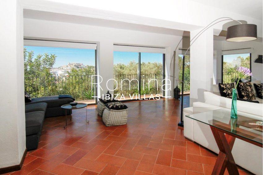 villa begonia ibiza-3living room view dalt vila