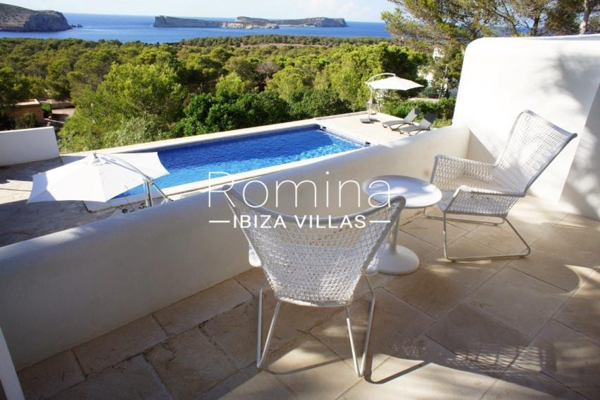 villa bella ibiza-1terrace table chairs sea view