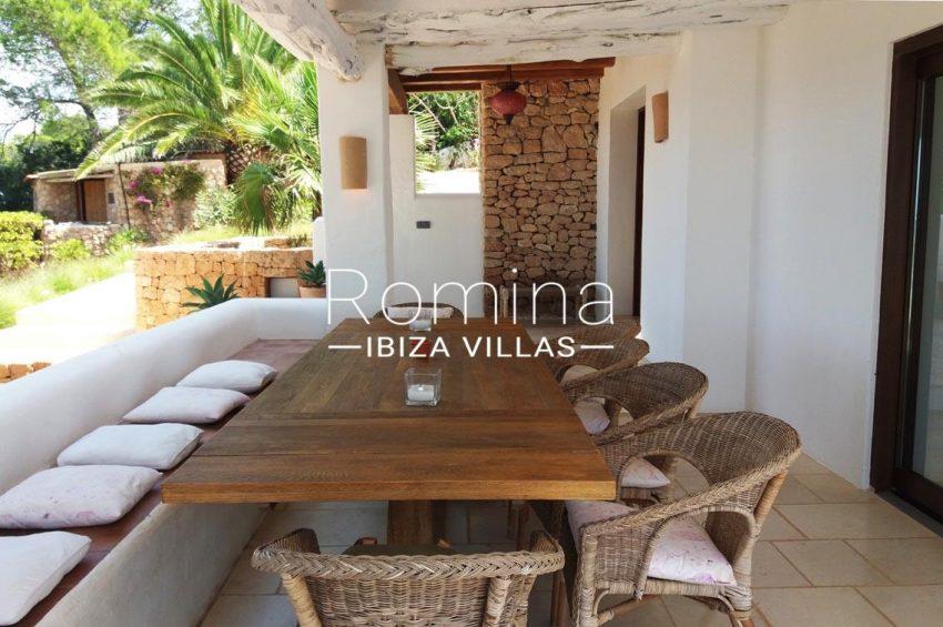 villa bella ibiza-2orch dining area