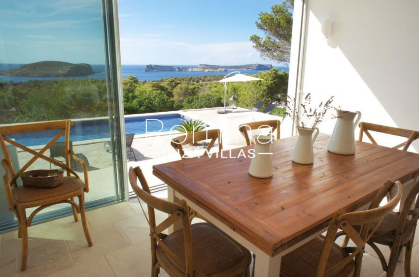 villa bella ibiza-3dining room sea view