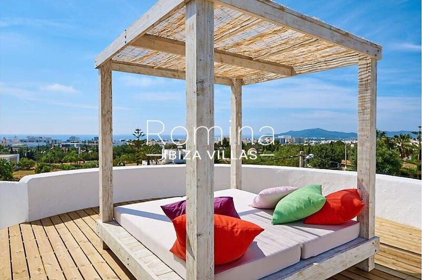 villa tili ibiza-1roof deck chill out sea view