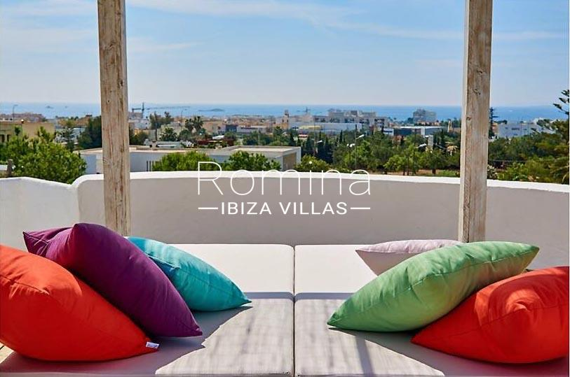 villa tili ibiza-1roof deck chill out sea view2