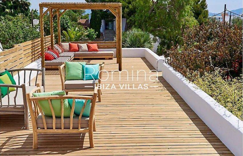 villa tili ibiza-2roof deck pergola sitting area2