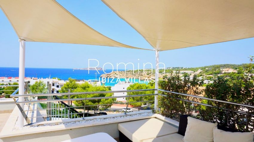atico vista mar ibiza-1terrace sail lounge sea view