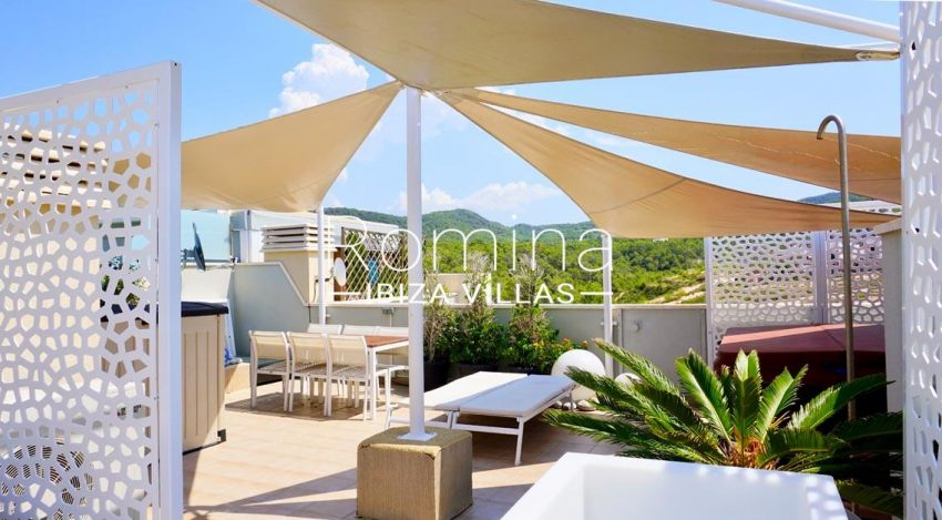 atico vista mar ibiza-1terrace sail lounge view hills