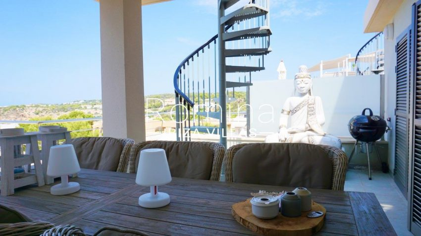 atico vista mar ibiza-2terrace diningarea