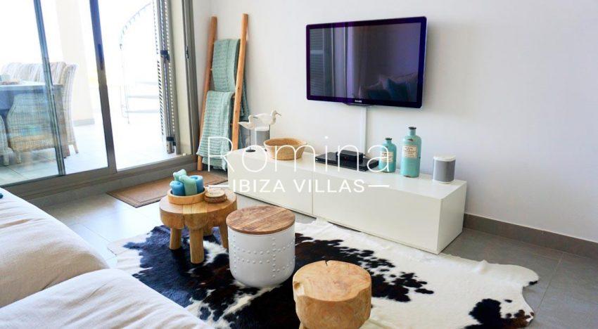 atico vista mar ibiza-3living room TV