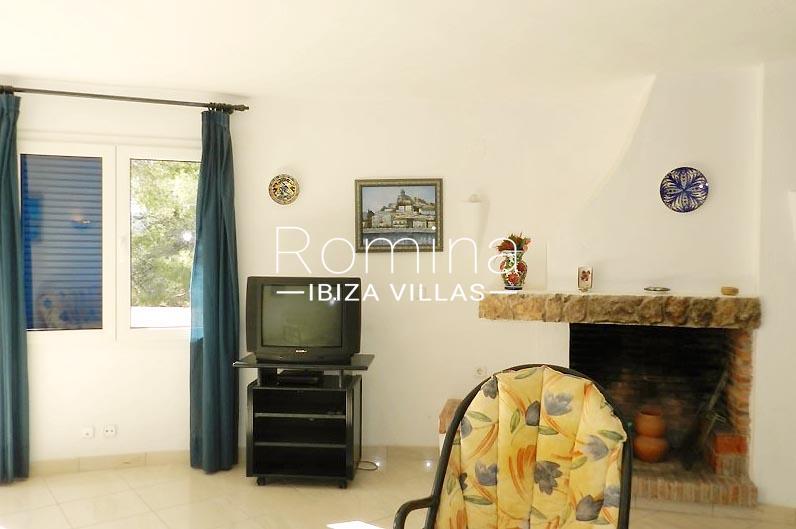 casa stella ibiza-3living room fireplace