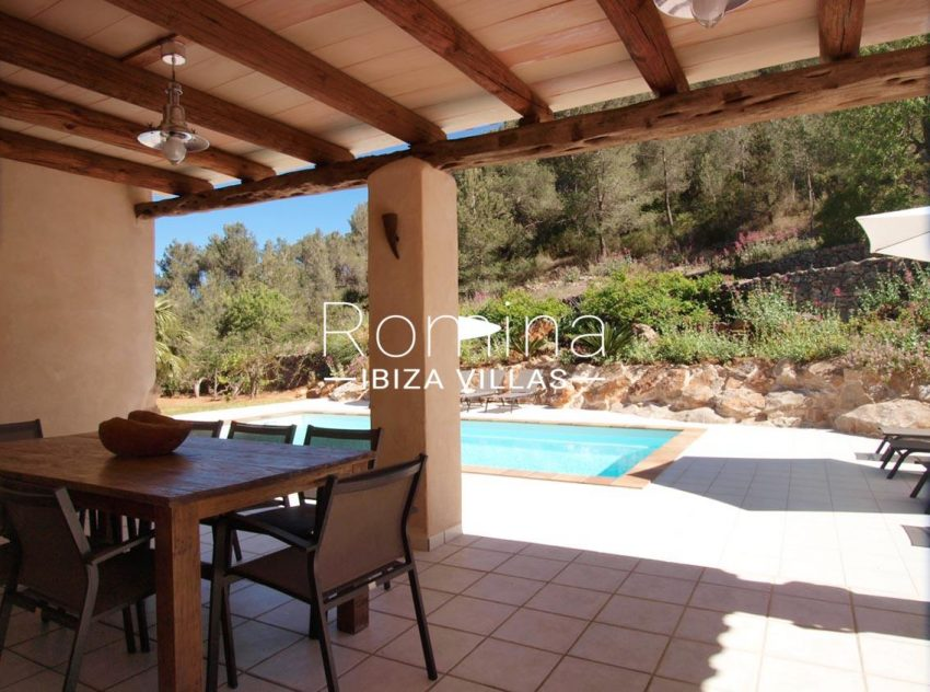 casa vergel ibiza-2porch dining area pool