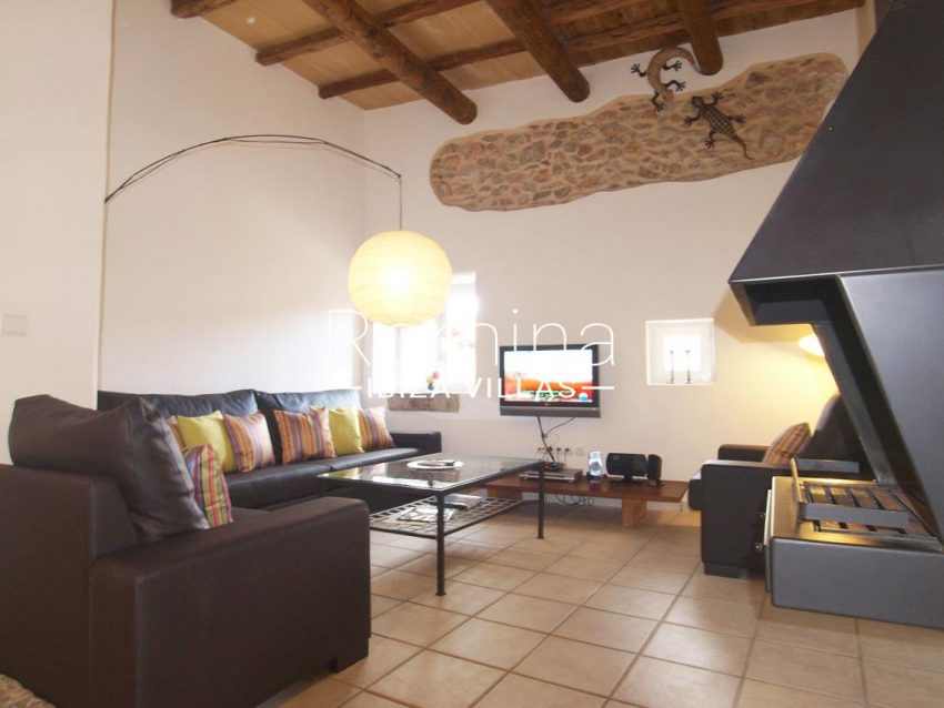 casa vergel ibiza-3living room fireplace
