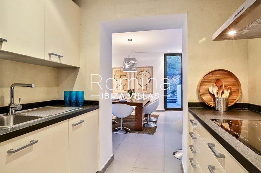 villa Pomba ibiza-3zkitchen opening onto dining room