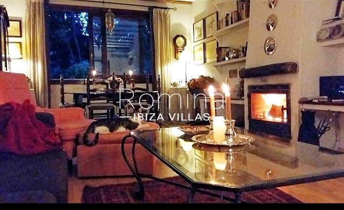 villa maisy ibiza-3living dining room fireplace