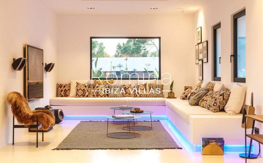 villa mar blau ibiza-3living room banquettes