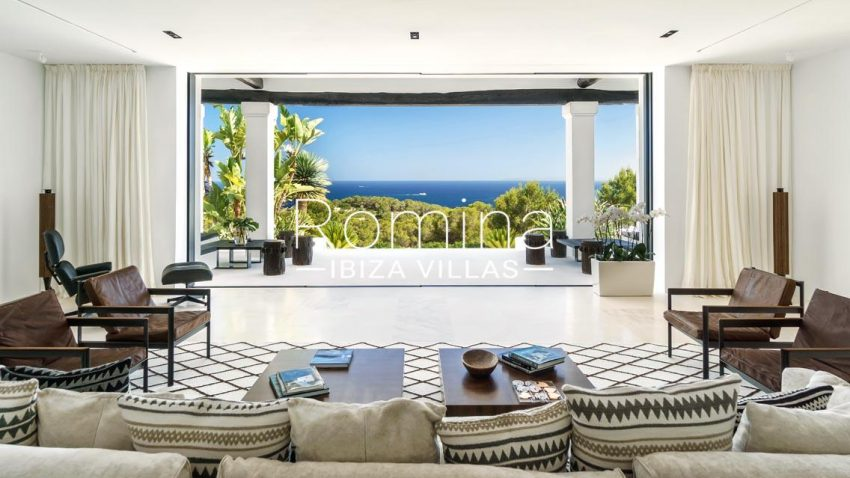 villa mar blau ibiza-3living room sea view2