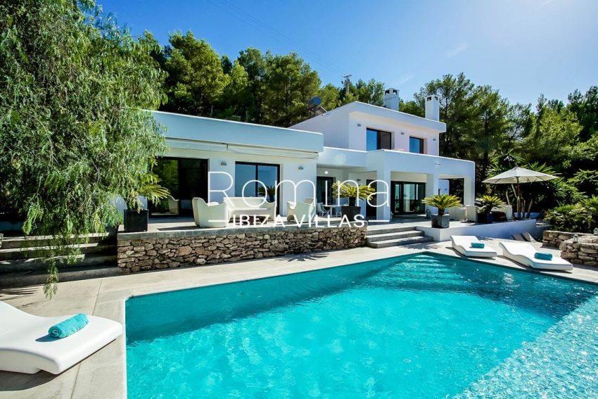 villa pomba ibiza-2pool facade terraces
