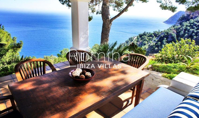villa sandra ibiza-1terrace dining area sea view