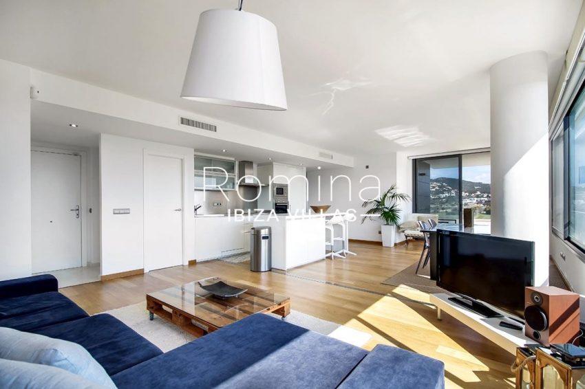 apto moderno ibiza-3living dining room kitchen view