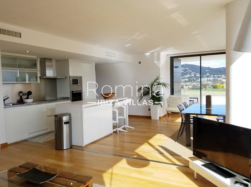 apto moderno ibiza-3living room kitchen