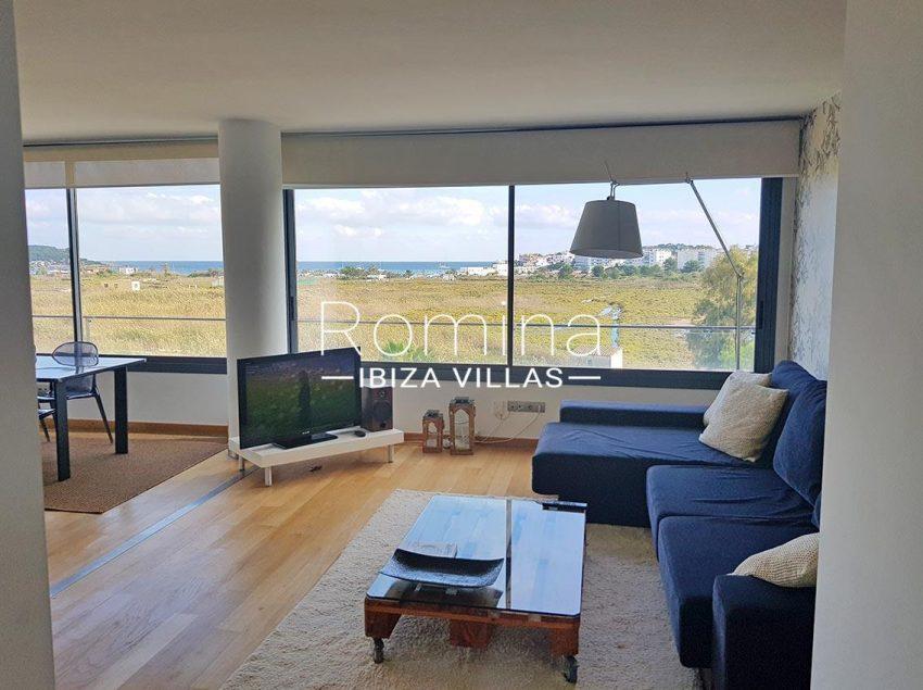 apto moderno ibiza-3living room sea view