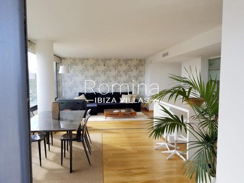 apto moderno ibiza-zdining living room kitchen