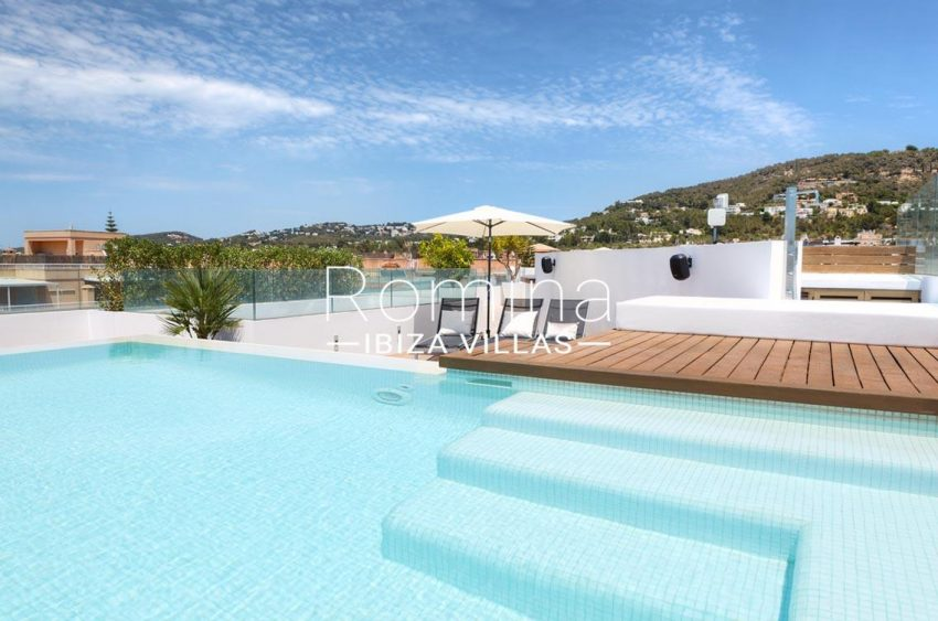 penthouse awa ibiza-1pool view hills