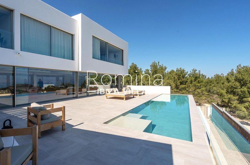 villa natalia ibiza-2pool terrace facade