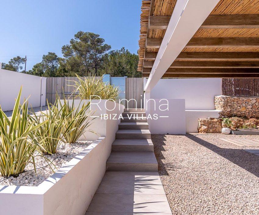 villa natalia ibiza-2terrace stairs plants