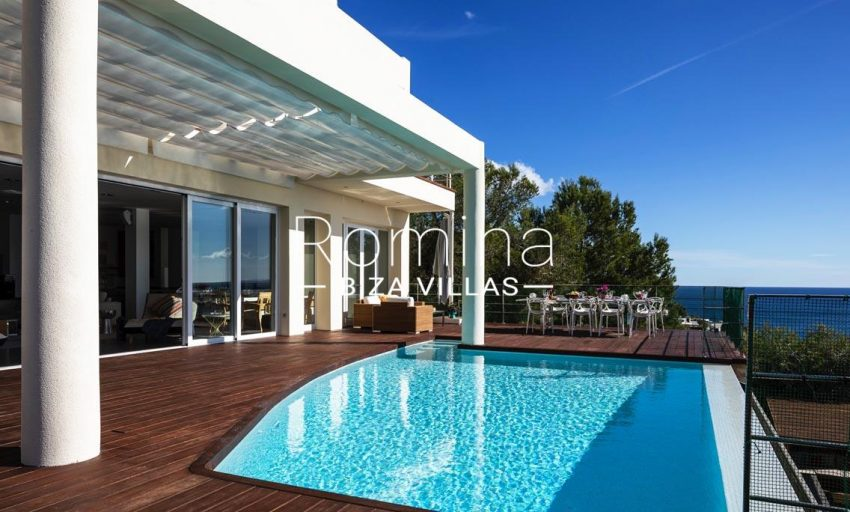 villa sedna ibiza-1pool terrace dining area sea view2